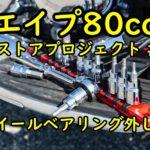 エイプ80ccレストアプロジェクトの記録#11【ホイールベアリング外し編】